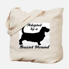ADOPTED by Basset Hound Tote Bag