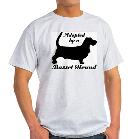 ADOPTED by Basset Hound Light T-Shirt