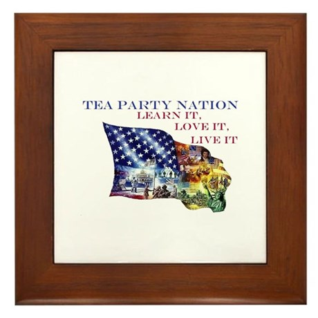 Patriotic Flag Framed Tile