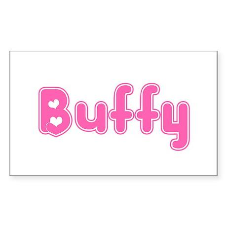 """Buffy"" Rectangle Sticker"