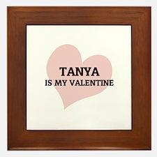 Tanya Is My Valentine Framed Tile