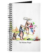 Cute Moose camping Journal