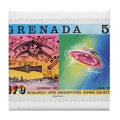 Granada UFO 1 Tile Coaster