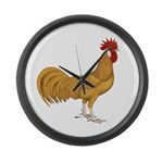 Minorca Rooster Large Wall Clock