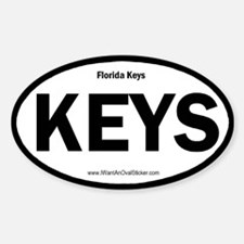 Florida Keys Oval Decal