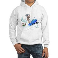 Moose on The Loose T Shirts Jumper Hoody