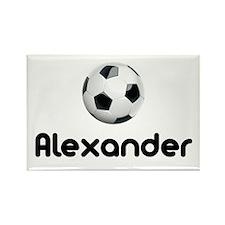 Soccer Alexander Rectangle Magnet