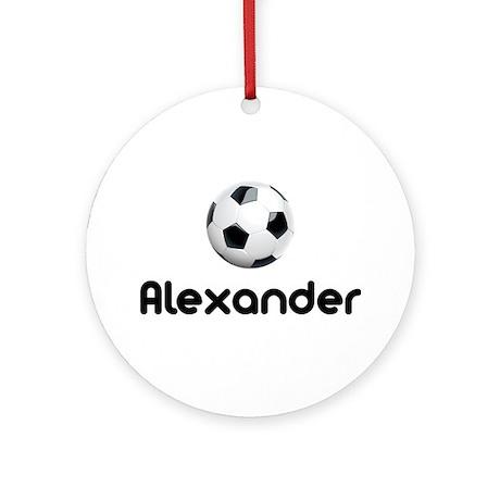 Soccer Alexander Ornament (Round)