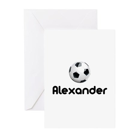Soccer Alexander Greeting Cards (Pk of 10)