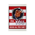 Are You Doing All You Can Vintage Poster Rectangle