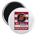 Are You Doing All You Can Vintage Poster Magnet