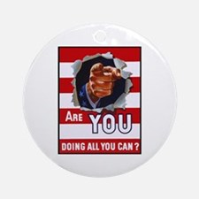 Are You Doing All You Can Vintage Poster Ornament