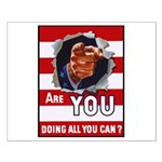 Are You Doing All You Can Vintage Poster Small Pos