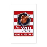 Are You Doing All You Can Vintage Poster Mini Post