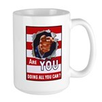 Are You Doing All You Can Vintage Poster Large Mug