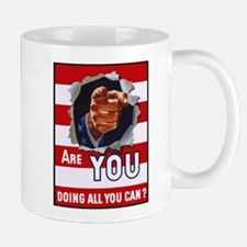 Are You Doing All You Can Vintage Poster Mug