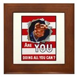 Are You Doing All You Can Vintage Poster Framed Ti