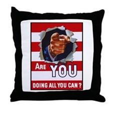Are You Doing All You Can Vintage Poster Throw Pil