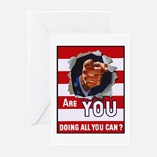Are You Doing All You Can Vintage Poster Greeting
