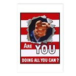 Are You Doing All You Can Vintage Poster Postcards