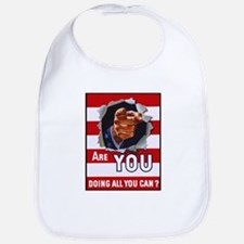 Are You Doing All You Can Vintage Poster Bib