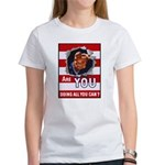 Are You Doing All You Can Vintage Poster Women's T