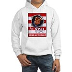 Are You Doing All You Can Vintage Poster Hooded Sw