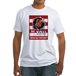 Are You Doing All You Can Poster (Front) Fitted T-