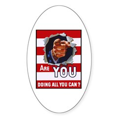 Are You Doing All You Can Vintage Poster Decal