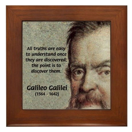 Discovery Truth Galileo Framed Tile