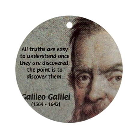 Discovery Truth Galileo Ornament (Round)
