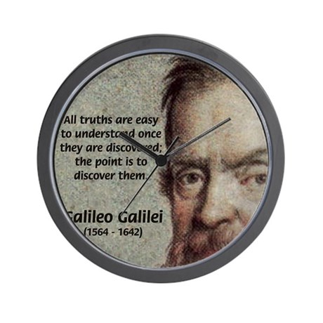 Discovery Truth Galileo Wall Clock