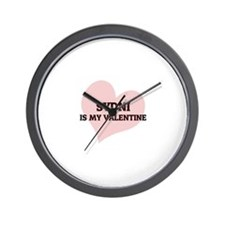 Sydni Is My Valentine Wall Clock