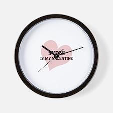 Sydni Is My Valentine Wall Clock