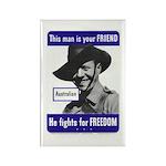 Australian Friend Vintage Poster Rectangle Magnet