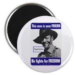 Australian Friend Vintage Poster Magnet