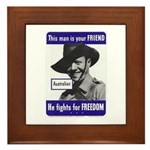Australian Friend Vintage Poster Framed Tile