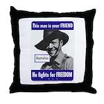 Australian Friend Vintage Poster Throw Pillow