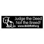 Judge the Deed Bumper Sticker