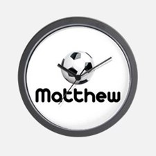 Soccer Matthew Wall Clock