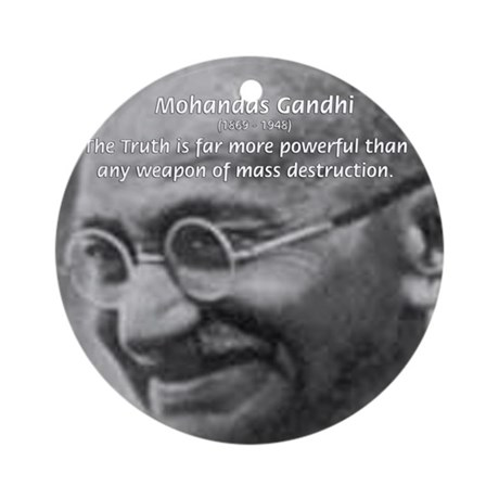 Power of Truth Gandhi Ornament (Round)