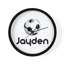 Soccer Jayden Wall Clock