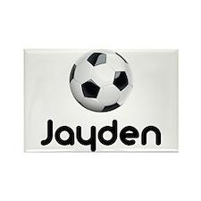 Soccer Jayden Rectangle Magnet