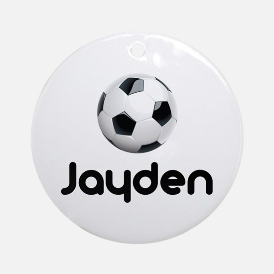 Soccer Jayden Ornament (Round)
