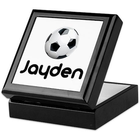 Soccer Jayden Keepsake Box
