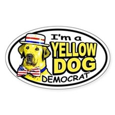 New Yellow Dog Democrat Oval Decal