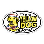 New Yellow Dog Democrat Oval Sticker