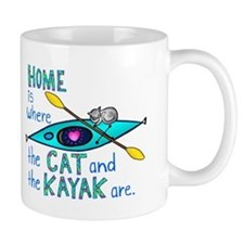 Home is where the Cat and the Kayak are Mug