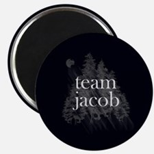 Team Jacob Werewolf Forest Magnet