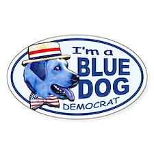 New Blue Dog Democrat Oval Bumper Stickers